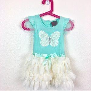 Girls Rule 24 month ruffle butterfly party dress